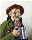 Franz Xavier Wölfle, The pewter pot (+ The blue neckerchief; pair)