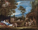 Circle Of Francesco Albani, Venus in der Schmiede des Vulkan