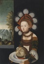 Follower Of Lucas Cranach the Elder, Salome mit der Johannesschüssel