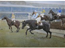 Charles Walter Simpson, The Grand National: Fulke walwyn riding to victory on Reynoldstown (2 works)