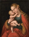 Circle Of Lucas Cranach the Elder, Madonna col bambino