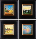 Alexandre Orlov, Evening dew; Fiery sunset; Piercing sunset; Golden reflection (4 works)