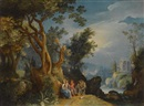 Circle Of Paul Bril, The Rest on the Flight into Egypt