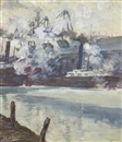 Walter Ufer, Steam Ships in the City