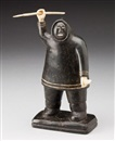 Anonymous-Inuit, Hunter with a harpoon and knife