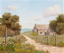 Palmer Chrisman, Countryside landscape with house