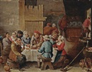 Abraham Teniers, Peasants eating and drinking in an interior