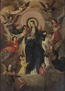 Circle Of Hendrick de Clerck, The Coronation of the Virgin