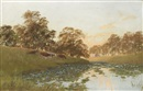 William Charles Piguenit, A northern lagoon, New South Wales