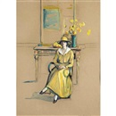 Jane Peterson, Woman in Yellow, Possibly Self Portrait