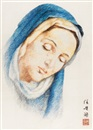 Ren Huixian, Virgin Mary (embroidered by SiMa JianMing, with the direction of Guan PeiYing)