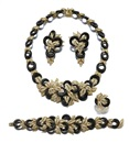 Adler, Parure comprising a necklace, a bracelet, a pair of ear clips and a ring en suite (set of 4)