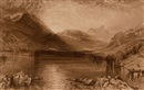 John Ruskin, Lake of Zug (+ Tree, ink and wash, verso)(+ Lake of Zug, engraving)(3 works)