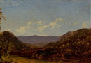 Attributed To David Johnson, Landscape with Mountains