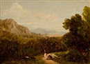Attributed To David Johnson, Landscape with Figure