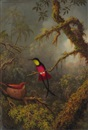 Martin Johnson Heade, A Pair of Nesting Crimson Topaz Hummingbirds