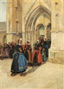 Jane Peterson, Church Procession in Brittany