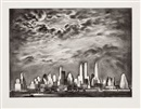 Louis Lozowick, Storm Over Manhattan