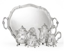 Buccellati, A tea and coffee set and tray (set of 5)