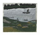 Alfred Wallis, Two Steamers in an Estuary