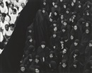 Shirin Neshat, Fervor series (Crowd from front, woman leaving)