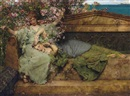 Sir Lawrence Alma-Tadema, In a Rose Garden