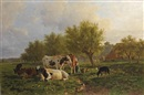 Anton Mauve, Milking time