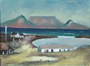 Pranas Domsaitis, Blouberg Strand with Table Mountain