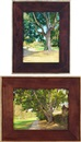 Alexandre Orlov, Shady Alley, Garfield, Pasadena and An Old Tree, Garfield, Pasadena (2 works)