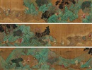 Attributed To Qian Xuan, 仙人渡海图 (Character and landscape)