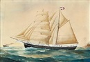 Reuben Chappell, Schooner Jason of Svendborg, Capt. H. P. Hansen, Schooner Morsø of Nykjobing, Captn. Andersen, Schooner Vega af Marstal, full-rigged Lyng of Christiansand and Schooner Arken af Marstal, Captn. H. Christensen (5 works)