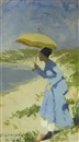 Hans Dahl, Lady with a parasol