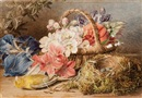 Mary Elizabeth Duffield, Flowers, Nest and Greenfinch
