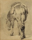 Pieter van Bloemen, Study of a saddled horse