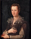 Follower Of Alessandro di Cristofano Allori, Portrait de Leonora de Médicis (1553-1576)