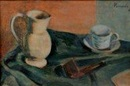 Joaquín Peinado, Nature morte à la pipe