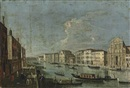 Master of the Langmatt Foundation Views, A view of the Grand Canal, Venice, looking south west from the Chiesa degli Scalzi to the Fondamenta della Croce with San Simone Piccolo