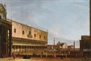 Master of the Langmatt Foundation Views, Venice, a view of the piazzetta from Piazza San Marco, with San Giorgio Maggiore in the distance and the Palazzo Ducale to the left