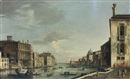 Master of the Langmatt Foundation Views, The Grand Canal, Venice, looking east from the Campo San Vio, with the dome of Santa Maria della Salute and the Punta della Dogana