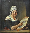 Jan David Col, Woman with book describing indians