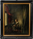 After Johannes (van Delft) Vermeer, Girl Reading a letter at an open window