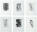 Brice Marden, Han Shan Exit (1-6)(suite of 6)