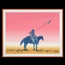Fritz Scholder, Indian with Flag