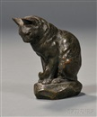 Alfred Barye, Seated Cat