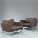 Piero Lissoni, Easy chairs (model PL 110) (pair)