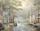 Thomas Kinkade, Hometown Evening (Hometown Memories III)