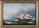Carl Justus Harmen Fedeler, The American Ship Athens of Portsmouth, New Hampshire
