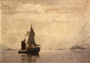 Georg Anton Rasmussen, Fishing boats in a fjord