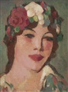 John Duncan Fergusson, Head with White Rose