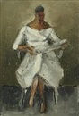 Jeppe Vontillius, Seated woman in white dress